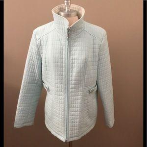 NWOT Gallery Light Blue Lightweight Quilted Jacket